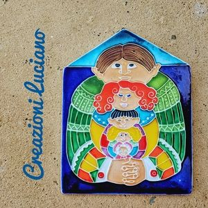CREAZIONI LUCIANO Hand Painted Decorative Tile
